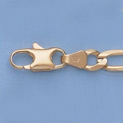 """Genuine 16"""" 14k Gold-Yellow 5.1mm Figaro Chain 17.3g"""