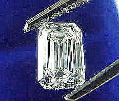 EGL CERT 0.51 CTW EMERALD CUT DIAMOND G/SI1