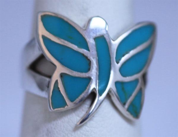 23.20 CTW TURQOUISE RING .925 STERLING SILVER