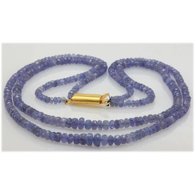 Natural 75.36ctw Tanzanite Graduated 2 Rows Necklace