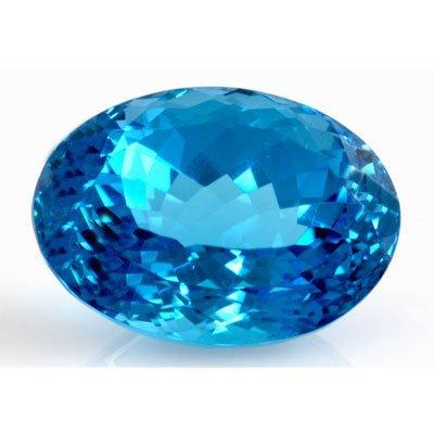Natural Blue Topaz Oval Cut 21x15mm 1 pc/lot 32.05ctw