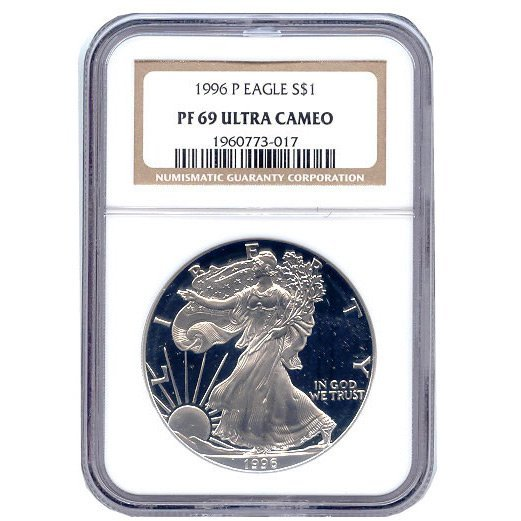 Certified Proof Silver Eagle PF69 1996
