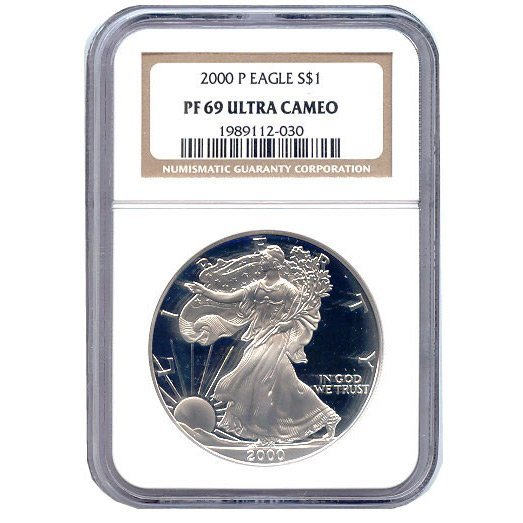 Certified Proof Silver Eagle PF69 2000