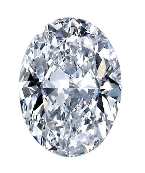 EGL CERT. OVAL DIAMOND 0.5 CTW H/SI1