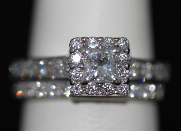 1.20 CTW 14K WHITE GOLD DIAMOND RING SET