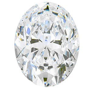 EGL CERT. OVAL DIAMOND 1.0 CTW G/SI2