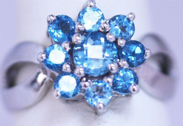 21.25 CTW BLUE TOPAZ RING .925 STERLING SILVER