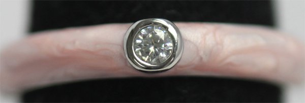 PINK RING WITH CZ
