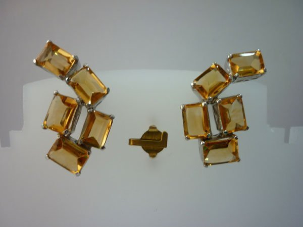 35.50 CTW CITRINE EARRING .925 STERLING SILVER