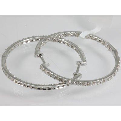 Genuine 1.89 ctw Diamond Earring 18KT White Gold