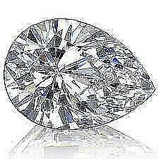 EGL CERT 1.00 CTW PEAR CUT DIAMOND I/VS2