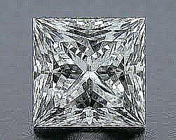 EGL CERT 0.52 CTW PRINCESS CUT DIAMOND D/SI2