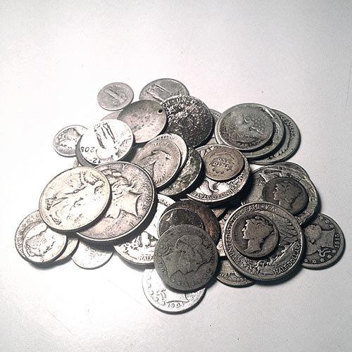 90% Silver Mixed Cull Condition 10 Ounces