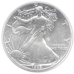 Uncirculated Silver Eagle 1989