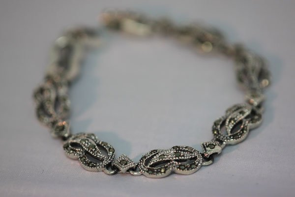 80.00 CTW ANTIQUE LOOKING BRACELET .925 STERLING SILVER