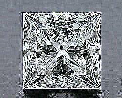 EGL CERT 1.42 CTW PRINCESS CUT DIAMOND G/SI2
