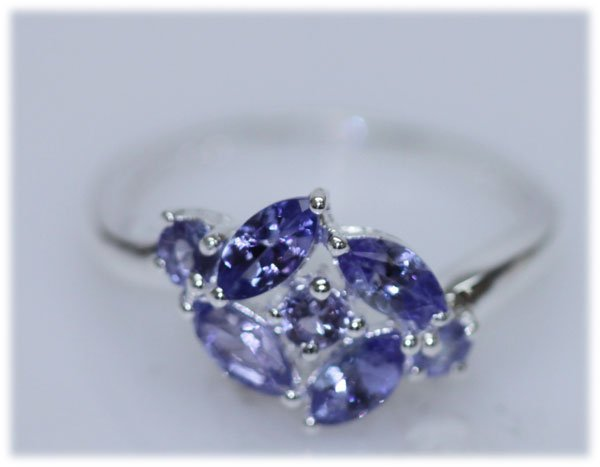 10.14 CTW TANZANITE RING .925 STERLING SILVER
