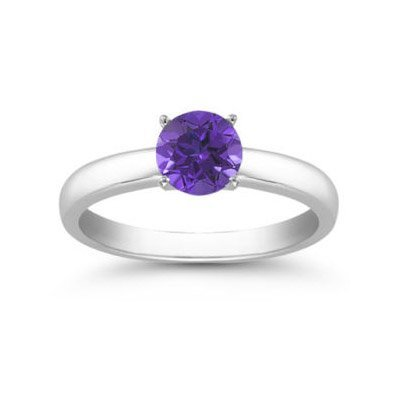 Genuine 0.55 ctw Tanzanite Solitaire Ring 14kt