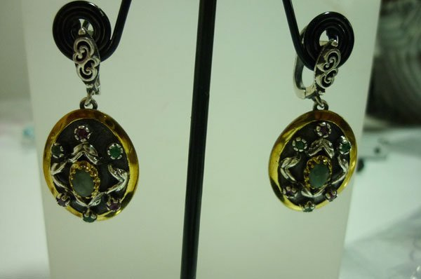 60.00 CTWTurkish earring .925 STERLING SILVER