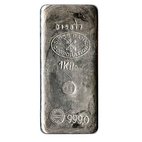 Random Manufacturer 1 Kilo (32.15 oz) Bar .999 fine