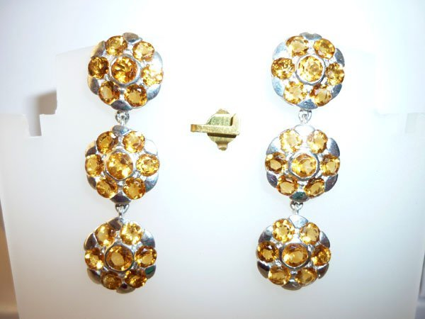 43.50 CTW CITRINE EARRING .925 STERLING SILVER
