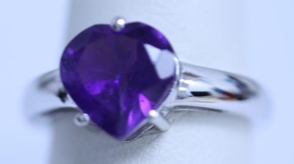 17.45 CTW AMETHYST RING .925 STERLING SILVER