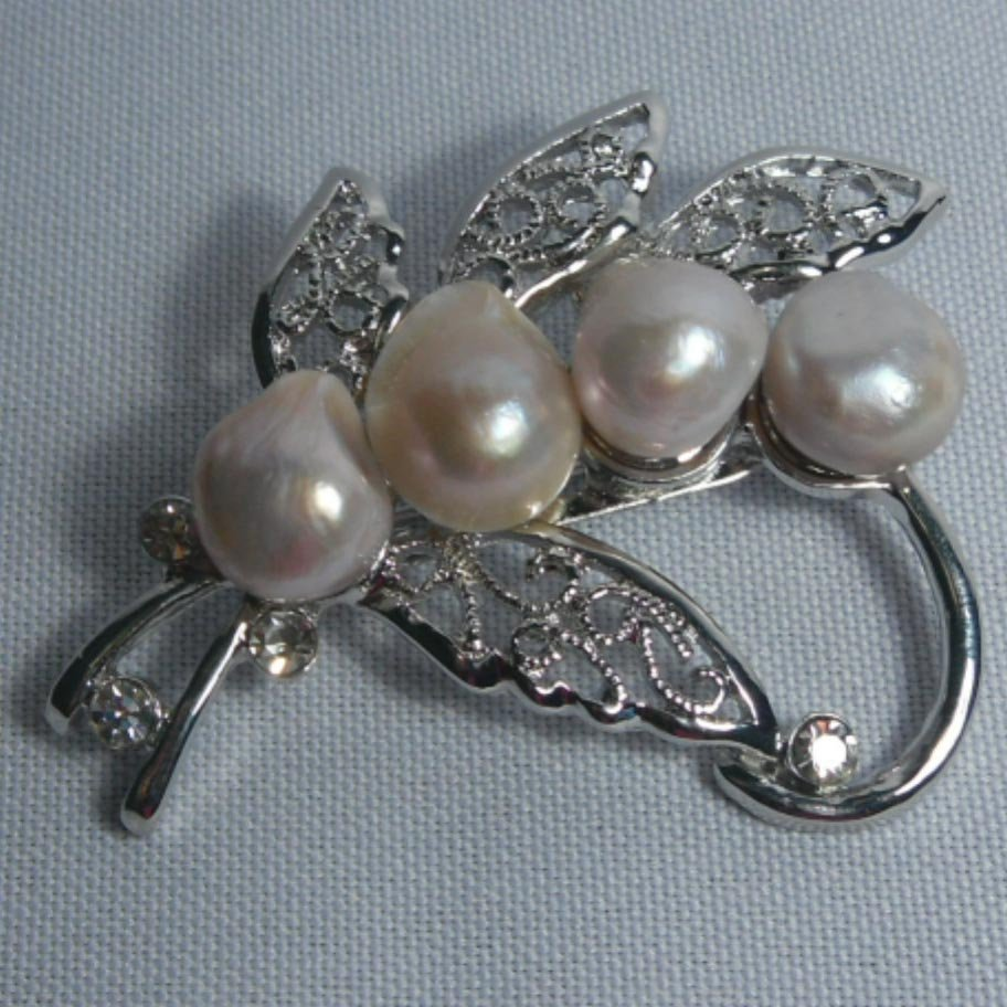 BLACK PEARL BROOCH; AUTHENTIC PHILIPPINE PEARL