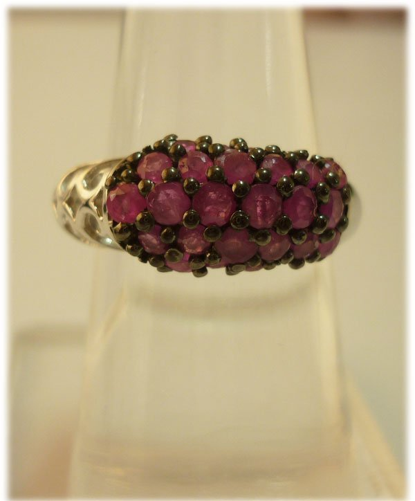 22.15 ctw Ruby Ring .925 Sterling Silver