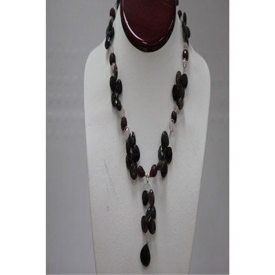 Natural 282.85ct Ruby,Semi Precious Necklace .925 Sterl
