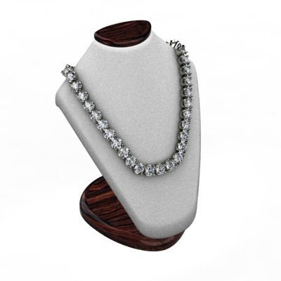 Diamond Necklace 20.0 ctw 14kt W/Y Gold, G-H/SI