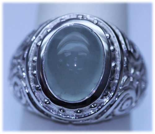 52.50 CTW SEMIPRECIOUS RING .925 STERLING SILVER
