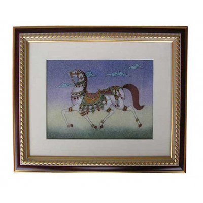 Gemstone Painting Runing Horse - Approx. Wgt. 2.5 kgs.