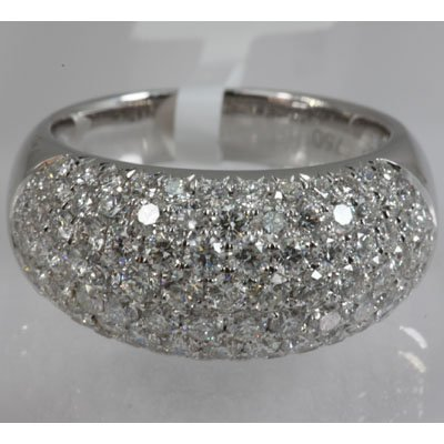Genuine 2.28 ctw Diamond Ring 18KT White Gold