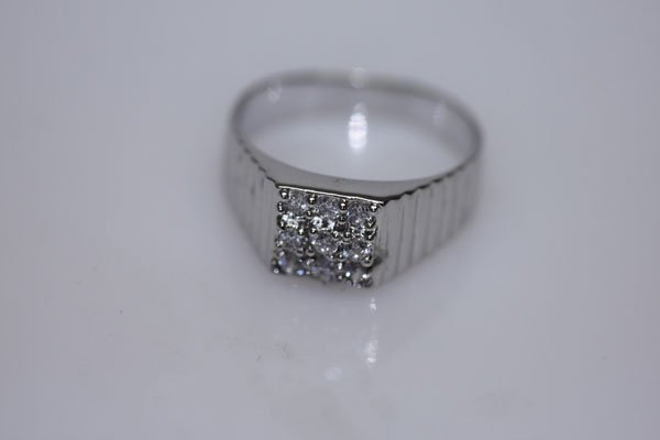 16.8 CTW CZ RING .925 STERLING SILVER