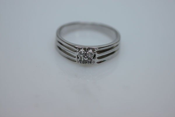 17.1 CTW CZ RING .925 STERLING SILVER