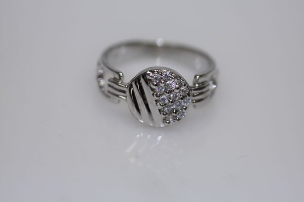22.7 CTW CZ RING .925 STERLING SILVER