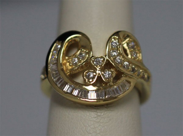 CZ 14K GOLD PLATED RING