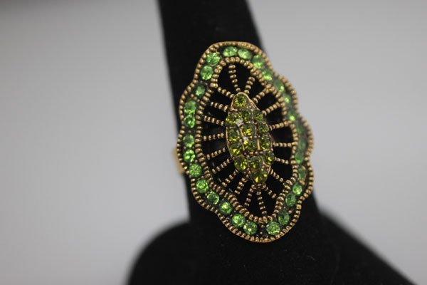 FASHION JEWELRY BRASS RING; SYNTHETIC CZ