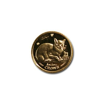 Isle of Man Gold Cat 25th Ounce