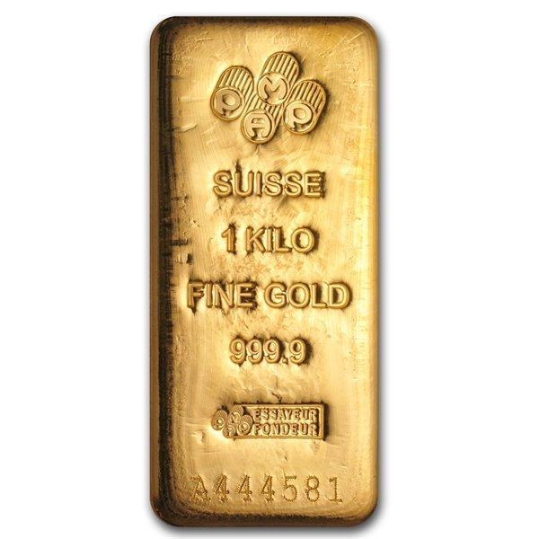 1 Kilo (32.15 oz) Gold Bar - Pamp Suisse - .999+ Fine