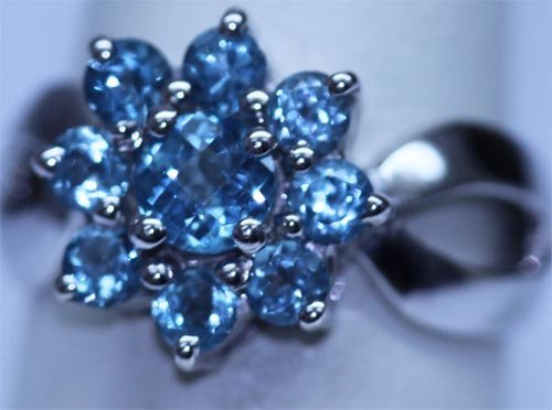 21.85 CTW BLUE TOPAZ RING .925 STERLING SILVER