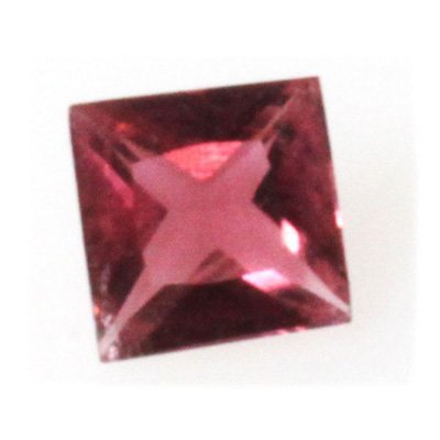 Natural 1.7ctw Pink Tourmaline Checkerboard Stone