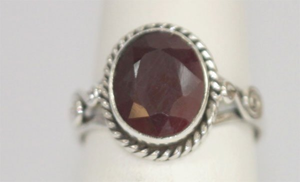 17.40 CTW RUBY RING .925 STERLING SILVER