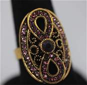 FASHION JEWELRY BRASS RING SYNTHETIC CZ