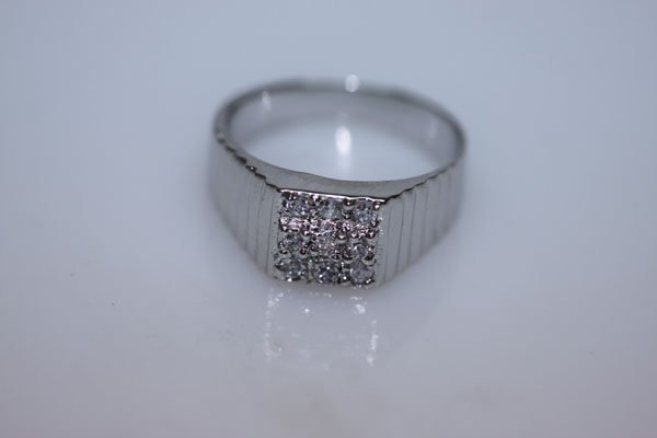 18.9 CTW CZ RING .925 STERLING SILVER