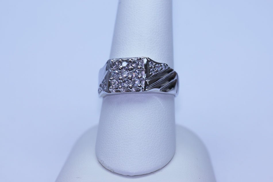 26.55 CTW CZ RING .925 STERLING SILVER