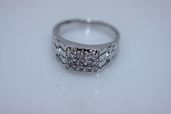 25.5 CTW CZ RING .925 STERLING SILVER