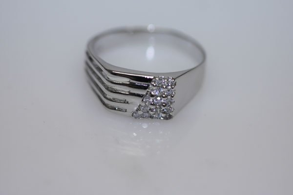 15.6 CTW CZ RING .925 STERLING SILVER