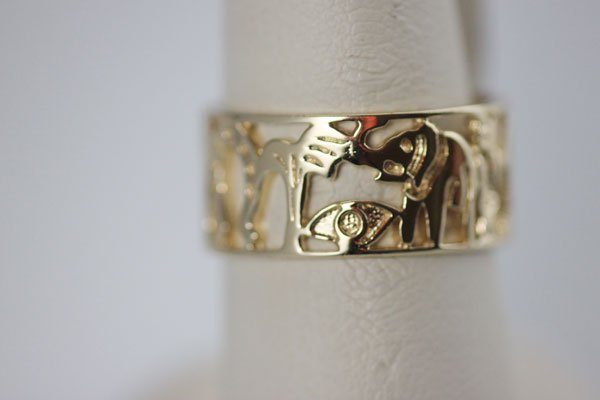 18K GOLD PLATED GOOD LUCK CHARM RING