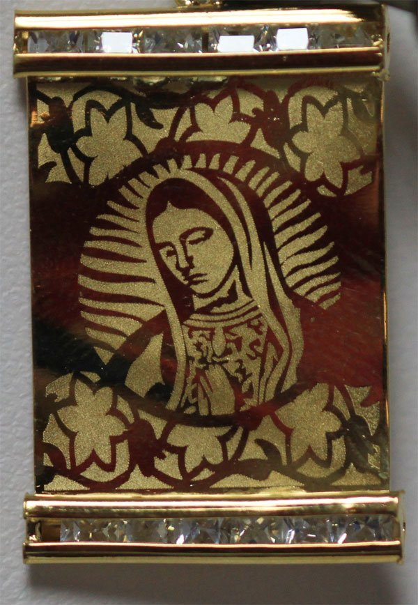 14K GOLD PLATED VIRGIN MARY PENDANT